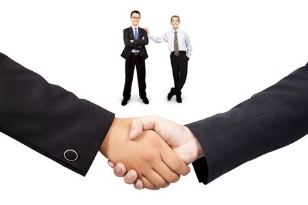 Businessman  handshake and teamwork photo