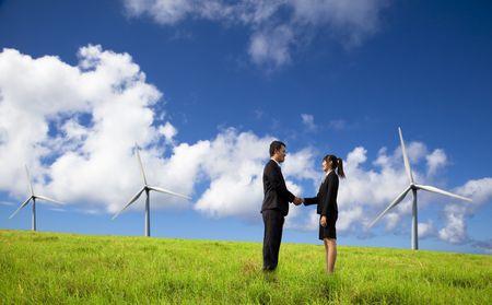Succesvolle milieu zaken en bedrijven  Stockfoto