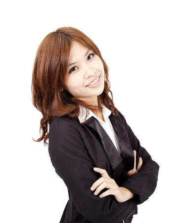 young and beautiful asian office lady Stock Photo - 8186785