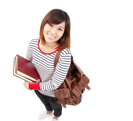 Young and Smiling Asian college student Stock Photo - 8254642