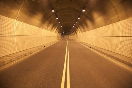 time drive: Road to the old tunel at night