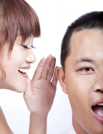 The gossip between man and woman Stock Photo - 8417874