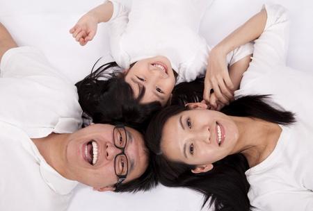 Happy asian family Stock Photo - 8564547