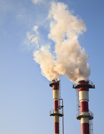 Air Pollution - Smoke from Chemical Plant polluting the air  photo