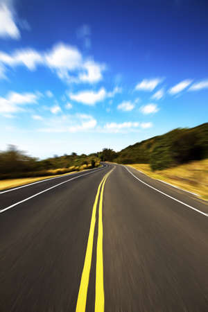 High speed road pass through the jugle with cloud background Stock Photo - 8915321