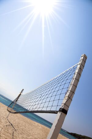 beach volley: Beach Volleyball and sunlight