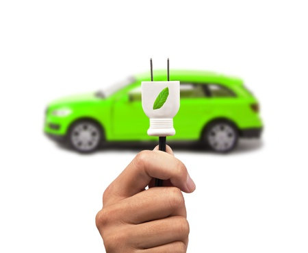 Electric cars with eco energy Stock Photo - 9335195