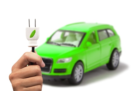 Electric car and green car concept  Stock Photo - 9335196
