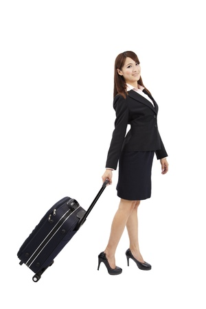 business woman traveling with suitcase Stock Photo - 9487538