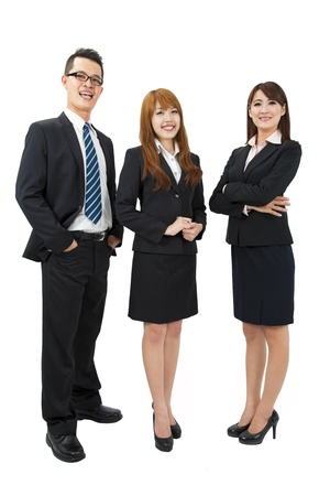 Young attractive business people Stock Photo - 9545421