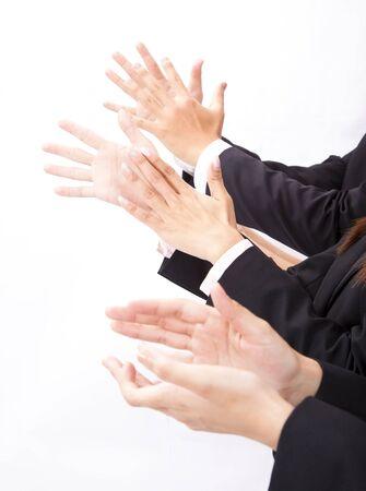 aplaudiendo: empresarios aplauden Foto de archivo