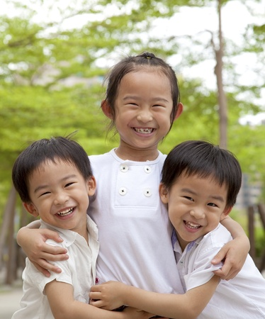 happy asian children Stock Photo - 9594296