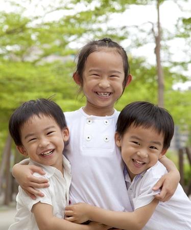 happy asian children photo