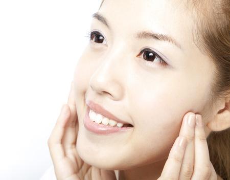 Close up of beautiful asian woman face Stock Photo - 9594299