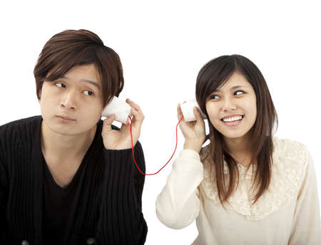 The communication between couple Stock Photo - 9620418