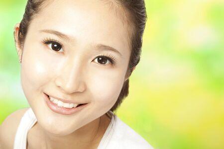 Close up of beautiful asian woman face Stock Photo - 9653750