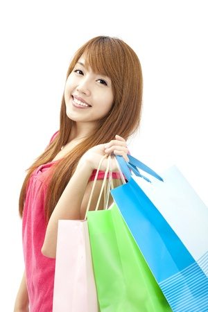 asian lovely woman with shopping bags Stock Photo - 9999628