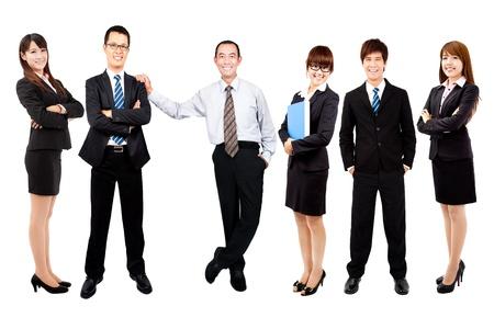 성공적인 행복 아시아 비즈니스 팀