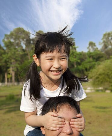 lovely  little girl and her father Stock Photo - 10118407