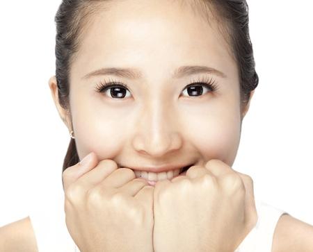 Beautiful smiling Woman Face closeup photo