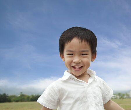 asia children: smiling boy Stock Photo