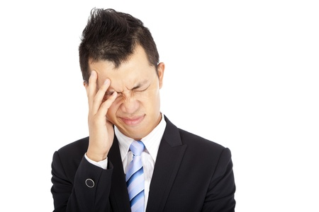 Businessman with headache photo