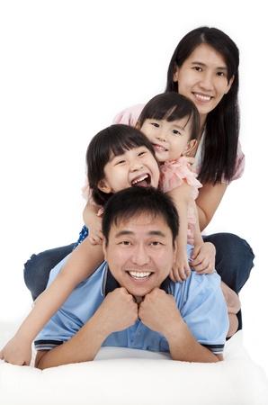 Happy Asian Family Stock Photo - 10739735