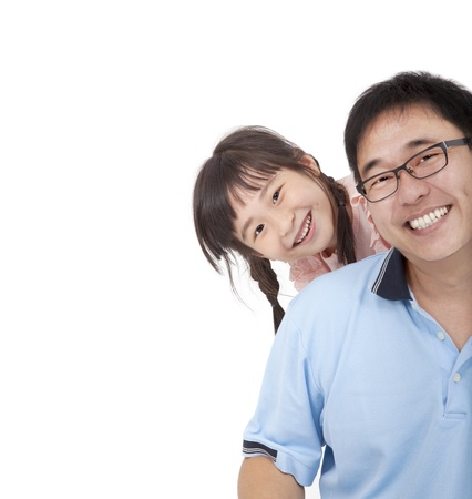 Happy father and girl.Asian family lifestyle photo