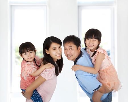 asian home: Famiglia stile di vita felice Archivio Fotografico