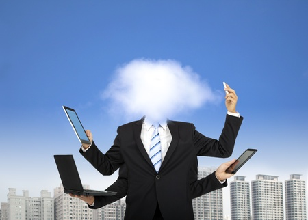 thinking cloud: cloud computing and business thinking concept