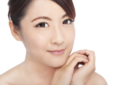 Close up portrait of young asian beautiful woman's face Stock Photo - 11173415