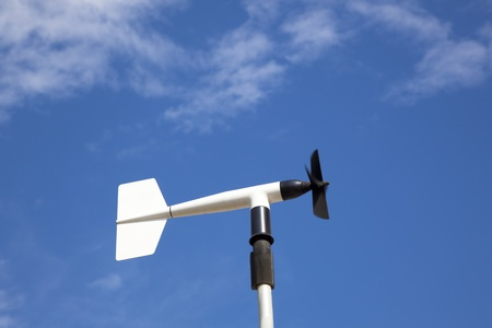 anemometer: wind wheel or anemometer with cloud background