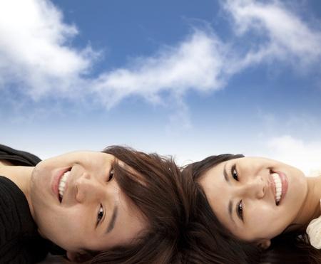 Happy asian couple  photo