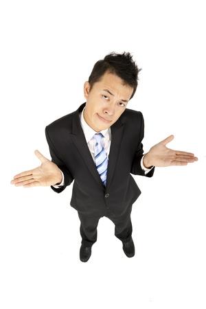 businessman shrugging  photo