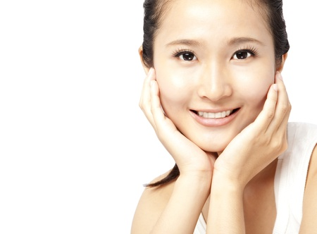 Close up portrait of asian woman's face Stock Photo - 12049015