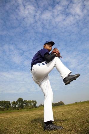 baseball pitcher:  baseball pitcher  Stock Photo