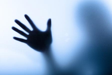 Diffuse afbeelding van een hand Stockfoto