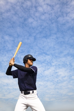 spring training: baseball player  Stock Photo