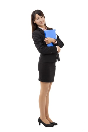 skirt suit:  Full length Businesswoman portrait  Stock Photo