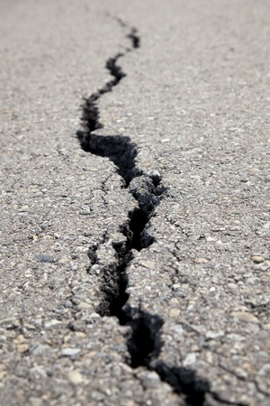cracked road Stock Photo - 12972729