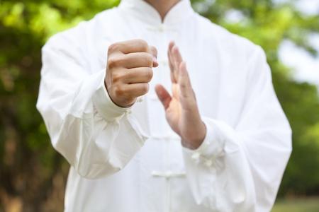hand of kung fu man