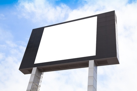 blank screen: Blank multimedia billboard with space for advertisement