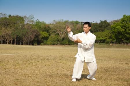 chi kung:  kung fu man