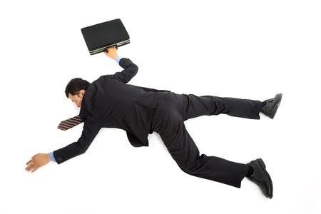 죽은: 사업가 바닥에 누워