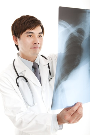 asian doctor: young doctor with xray
