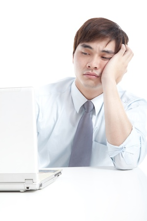 Businessman with stress photo