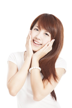 smiling beautiful young woman photo