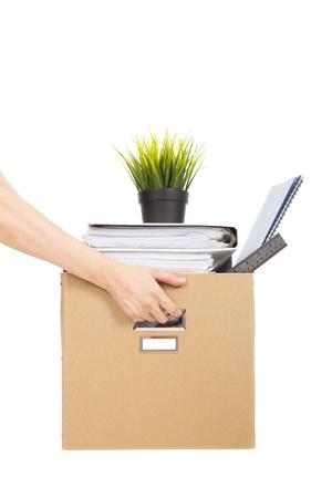 weitermachen: Job verlieren Konzept Hand, die das Feld der entlassenen Mitarbeiter Lizenzfreie Bilder
