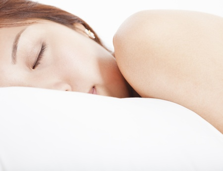 rests: young Woman in sleeping  Stock Photo