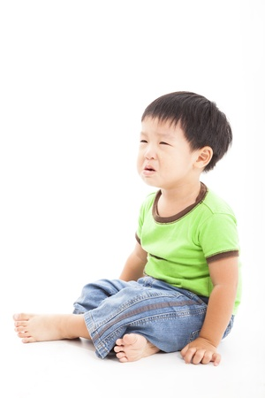 anger kid: crying boy in tears